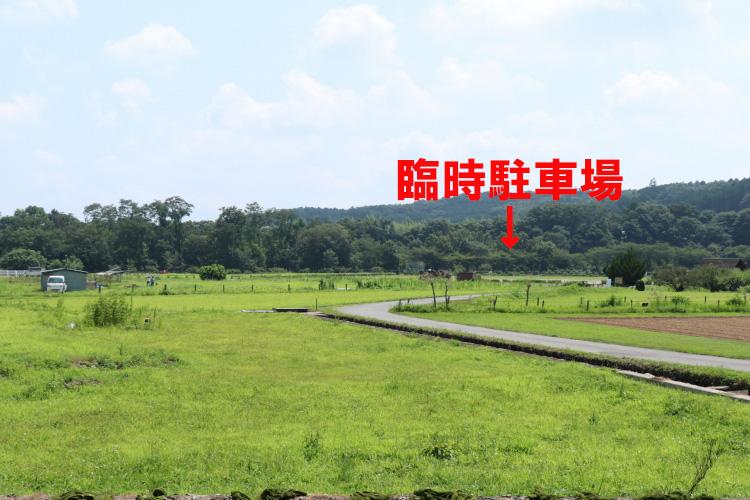 巾着田キャンプ場_臨時駐車場