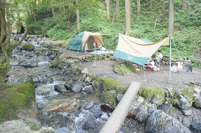 白岩渓流園キャンプ場