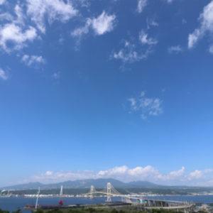 祝津公園展望台から望む白鳥大橋