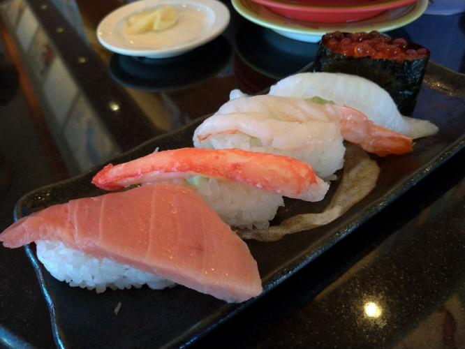 室蘭で回転寿司