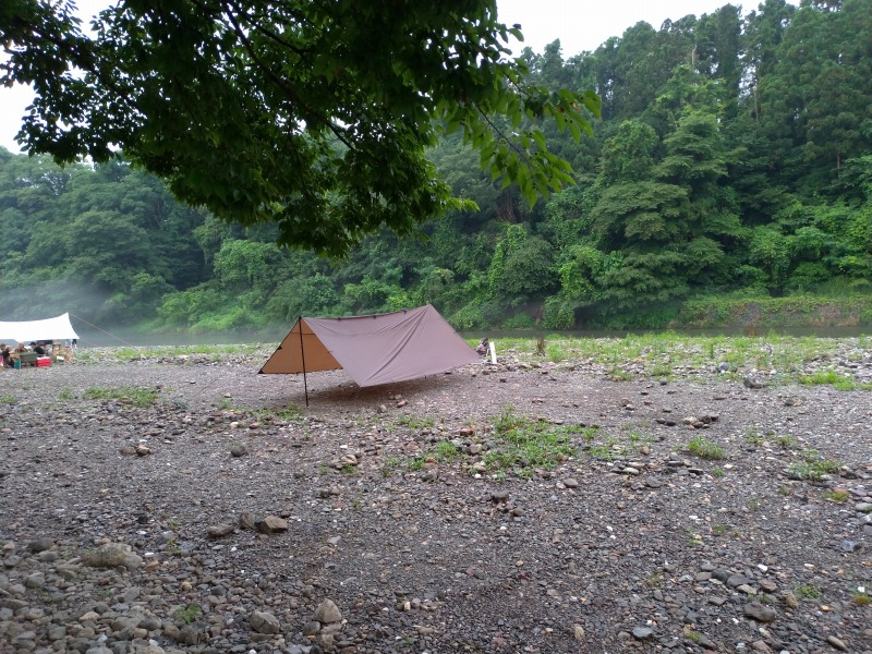 巾着田キャンプ場の様子