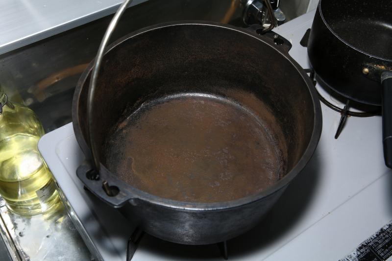 ダッチオーブン 錆び
