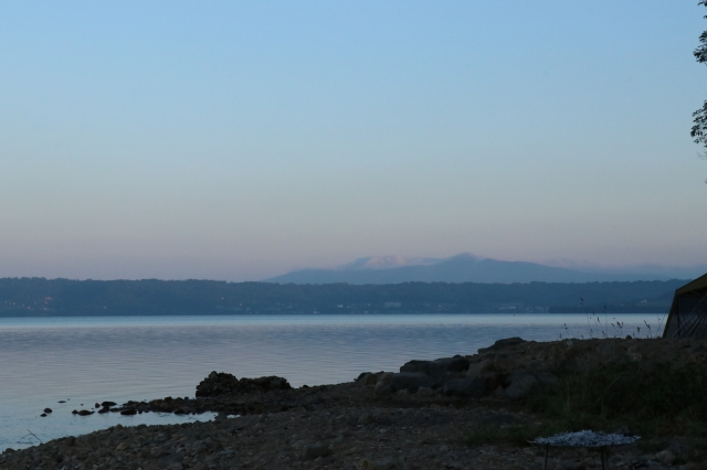 仲洞爺キャンプ場の朝