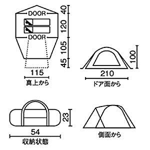ツーリングドームST設置寸法