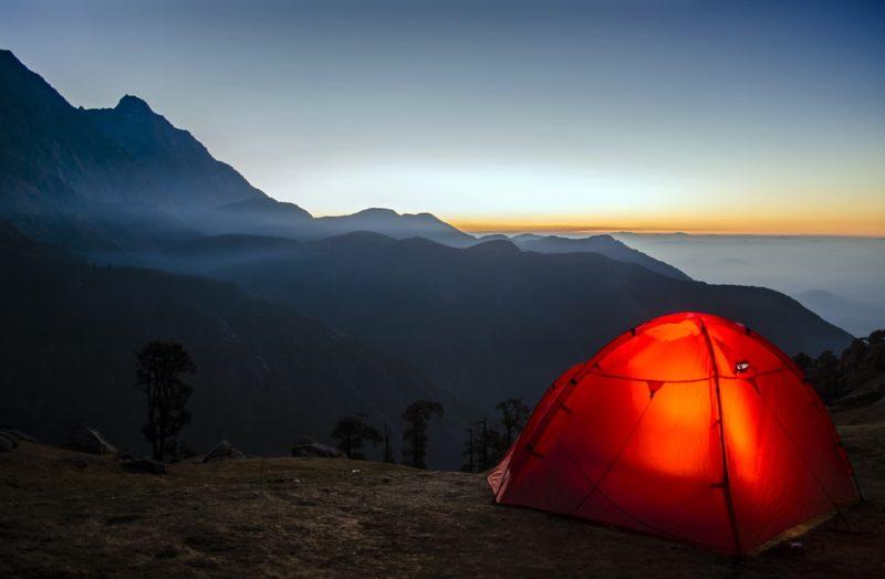 ソロキャンプ用テント