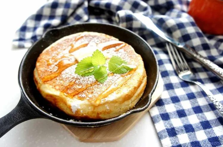 キャンプ朝食パンケーキ
