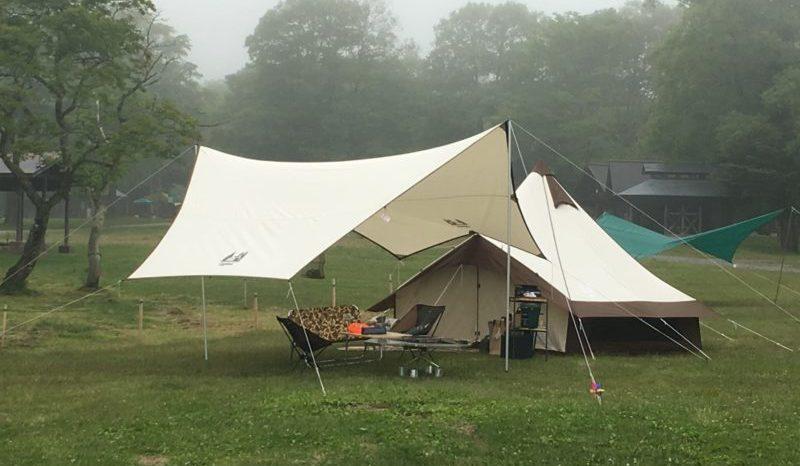 キャンプ初心者タープ